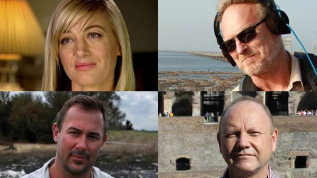 The detained 60 Minutes crew: Tara Brown, David Ballment, Stephen Rice and Ben Williamson.