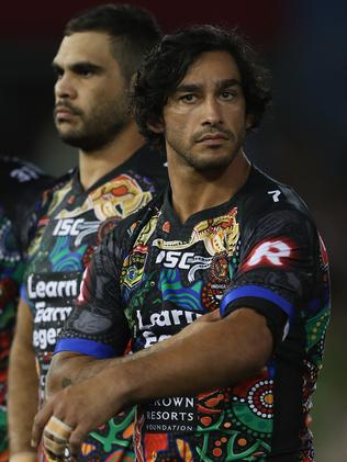 Indigenous NRL stars Greg Inglis and Johnathan Thurston. Picture: Getty Images