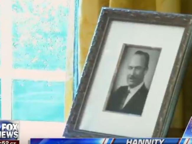 The photo of Donald Trump's father that he has put in the Oval Office. Picture: Supplied