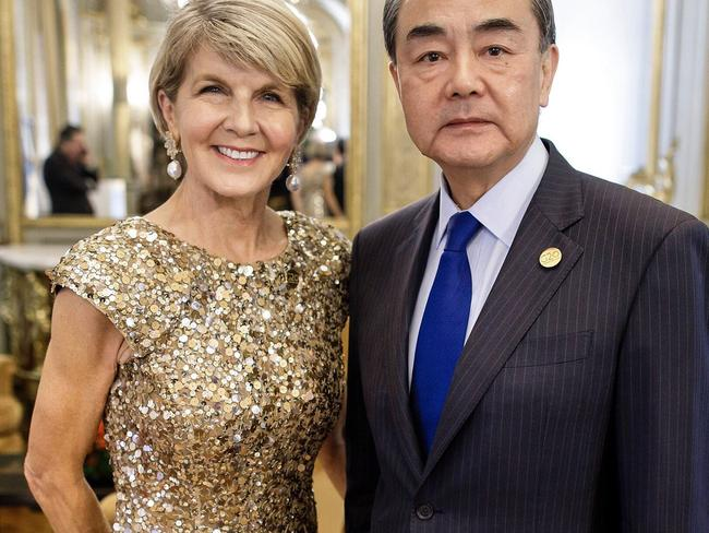 JA glittering Bishop in Argentina for G2018 with China Foreign Minister Wang Yi. Picture: Twitter