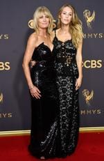 Robin Wright and Dylan Penn attend the 69th Annual Primetime Emmy Awards at Microsoft Theater on September 17, 2017 in Los Angeles. Picture: Getty