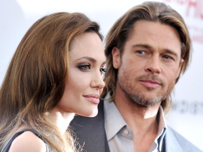 Fell in love in 2004 ... Angelina Jolie and Brad Pitt in 2011.
