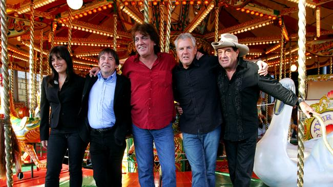 Singers Ally Fowler, John Paul Young, Jon English and Daryl Braithwaite with Molly Meldrum to launch the Countdown Spectacular tour in 2006.
