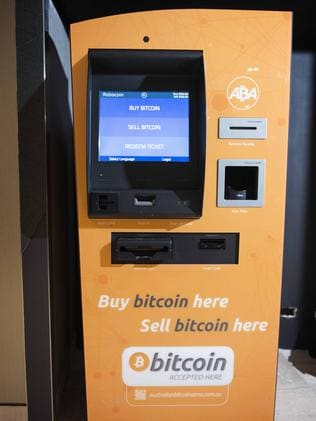 Melbourne's first Bitcoin ATM. Picture: Eugene Hyland