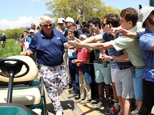 John Daly regularly plays on the veterans Champions Tour, which allows its players to use golf carts during competition.