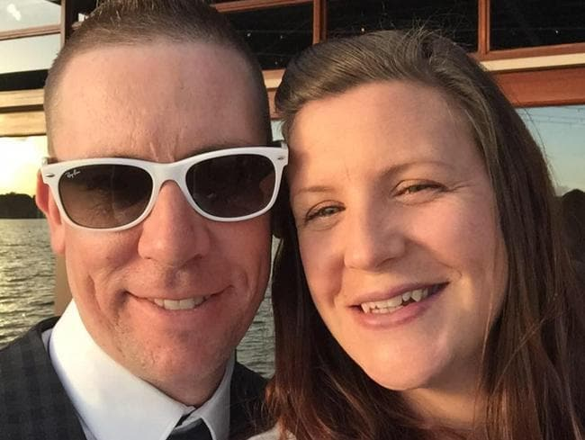 Kate Goodchild, 32, one of four people killed, with her husband David.