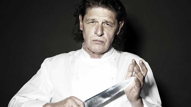 Marco Pierre White in a publicity shot for Hells Kitchen, his top-rating TV show.
