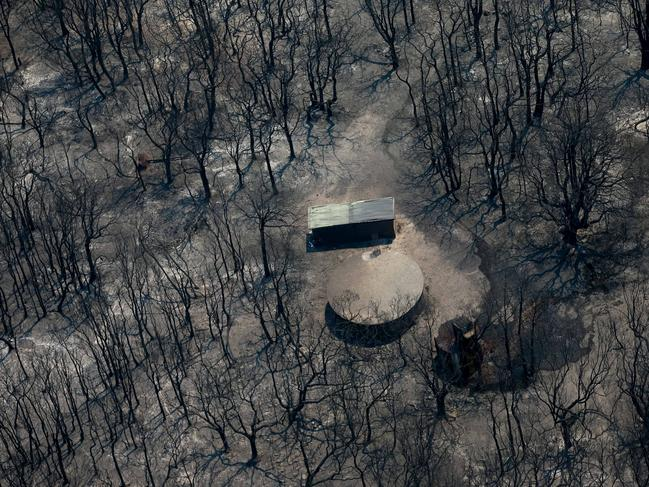 The charred remains of Crowdy Bay National Park. Picture: Lindsay Moller