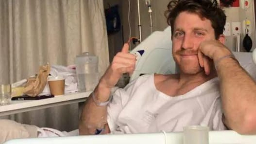 Reece Conca's Instagram post after injuring his ankle in his 100th game.