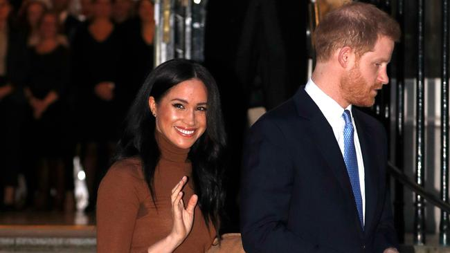 Britain's Prince Harry, Meghan are to step back as 'senior' royals. Picture: Adrian Dennis /AFP