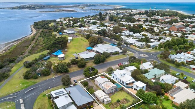 The buyers will be able to enjoy a view across Swan Bay.