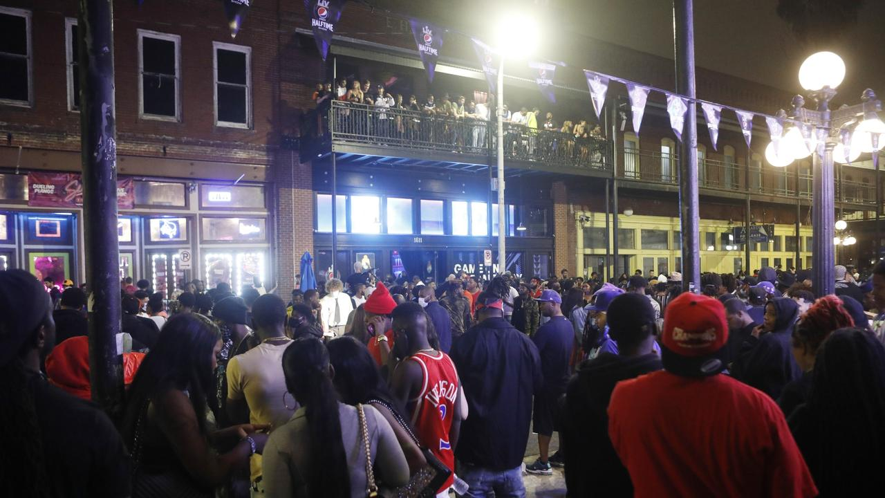 Large crowds gather in the Ybor City district. Octavio Jones/Getty Images/AFP