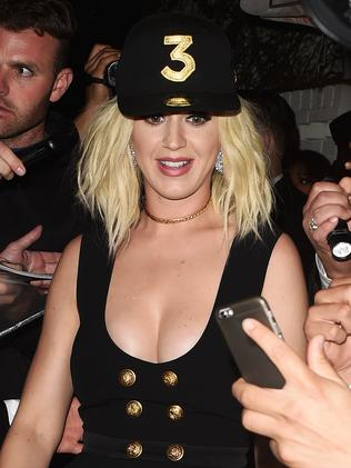 Katy Perry hits Chance the Rapper's party at the Chateau Marmont. Picture: Splash News