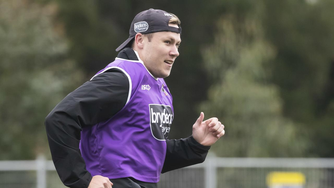 Billy Walters during a Wests Tigers training session