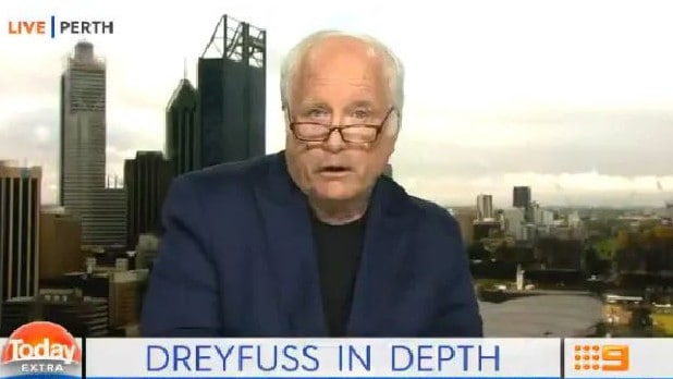 Richard Dreyfuss read a lengthy prepared statement denouncing The Project on Today Extra. Picture: Channel 9