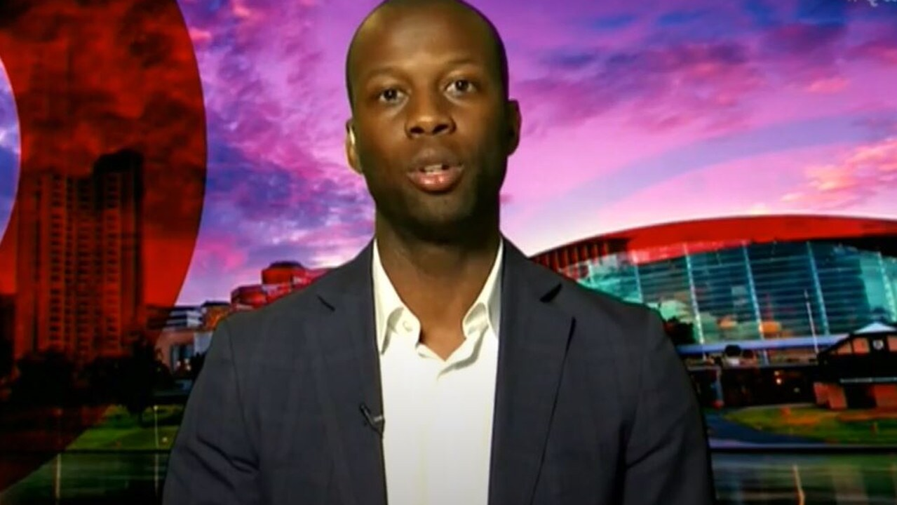 Bruce Djite on Q&A. Picture: ABC