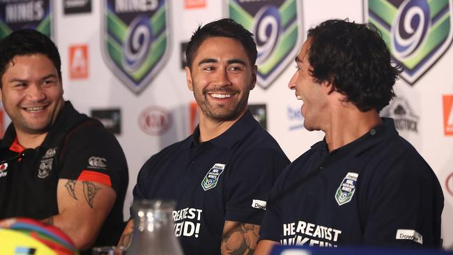Shaun Johnson at a media commitment promoting the Auckland Nines.