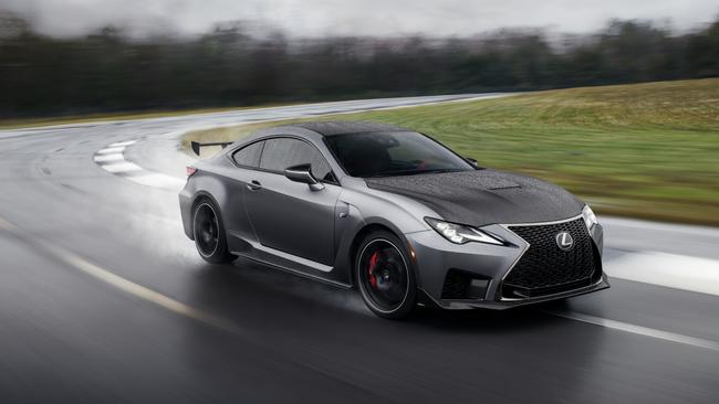 The Lexus RC F Track Edition uses carbon-fibre panels to trim weight.