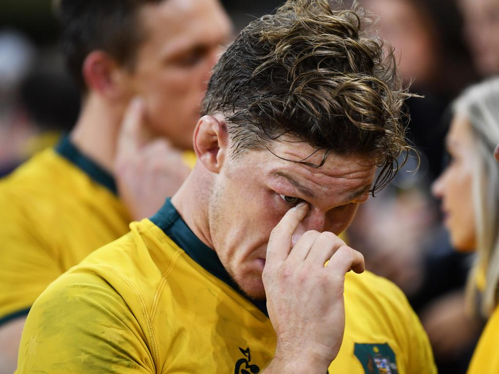 Wallabies captain Michael Hooper after the loss to Wales.