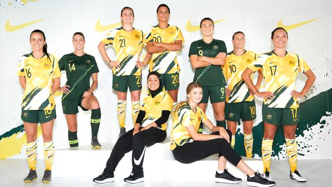 The Matildas in their Women's World Cup 2019 kit. Pic: Nike
