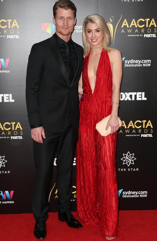 Richie Strahan and Alex Nation at the 6th AACTA Awards ceremony held at The Star in Pyrmont. Picture: Christian Gilles