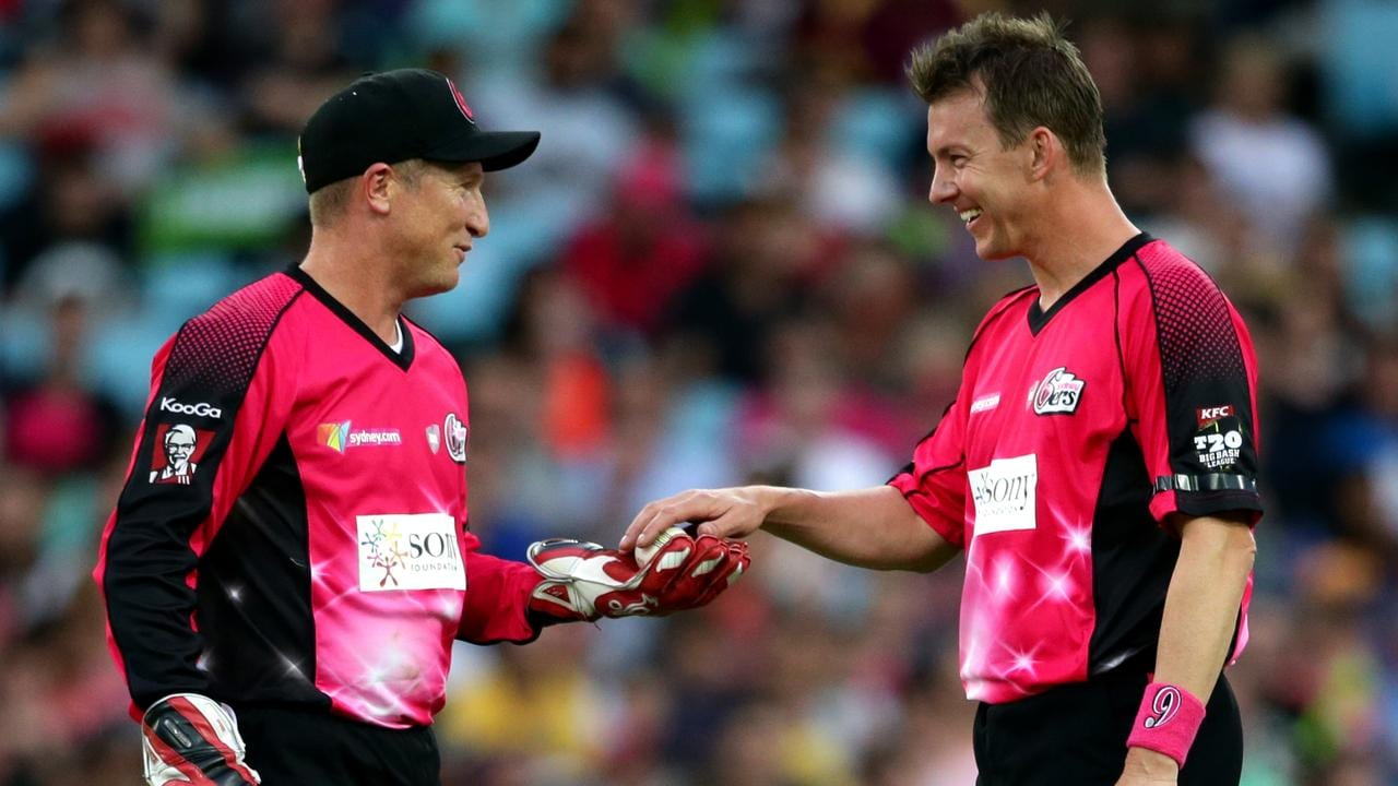 Brad Haddin and Brett Lee urge bowlers to bring back the yorker. Picture: Gregg Porteous