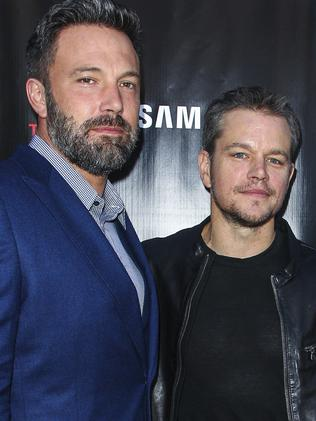 Matt Damon with old BFF Ben Affleck. Picture: Paul A. Hebert/Invision/AP