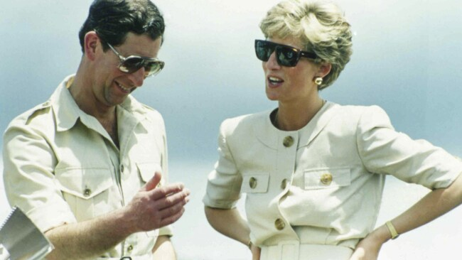 1991 file photo of Britain's Prince Charles and Princess Diana, during their visit to an iron ore mine near Carajas, Brazil. Image: AP Photo/Dave Caulkin