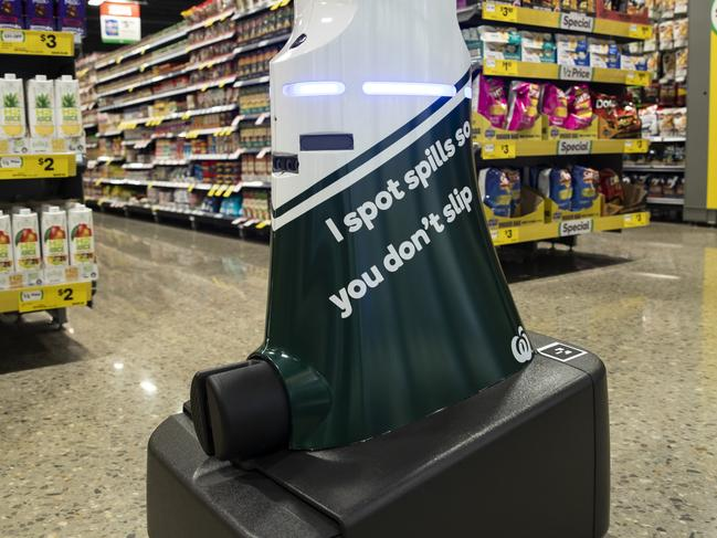 The trial robot is designed to spot hazards and make the store more safe.