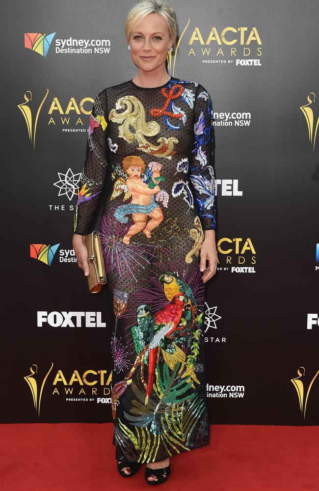 Marta Dusseldorp got creative with her dress for the night.
