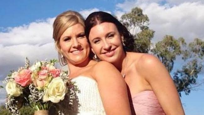 Stephanie (right), pictured at a wedding. Picture: Facebook