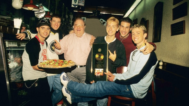 Lou Pearlman (middle) was a pop mogul. Image: Mark Weiss/WireImage