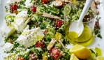 Sally Obermeder and Maha Corbett's easy monster feta cauliflower salad. Image: supplied.