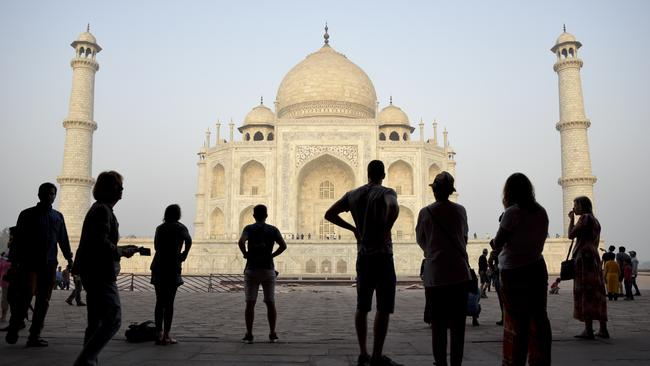 India's famed monument of love, the Taj Mahal, is changing colour. Picture: AP/R.S. Iyer