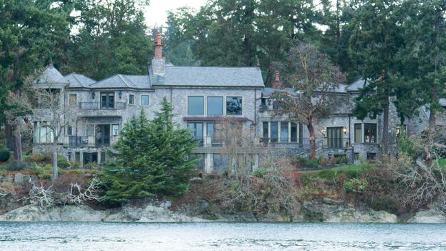 The residence of Prince Harry and his wife Meghan in British Columbia. Picture: Mark Goodnow / AFP