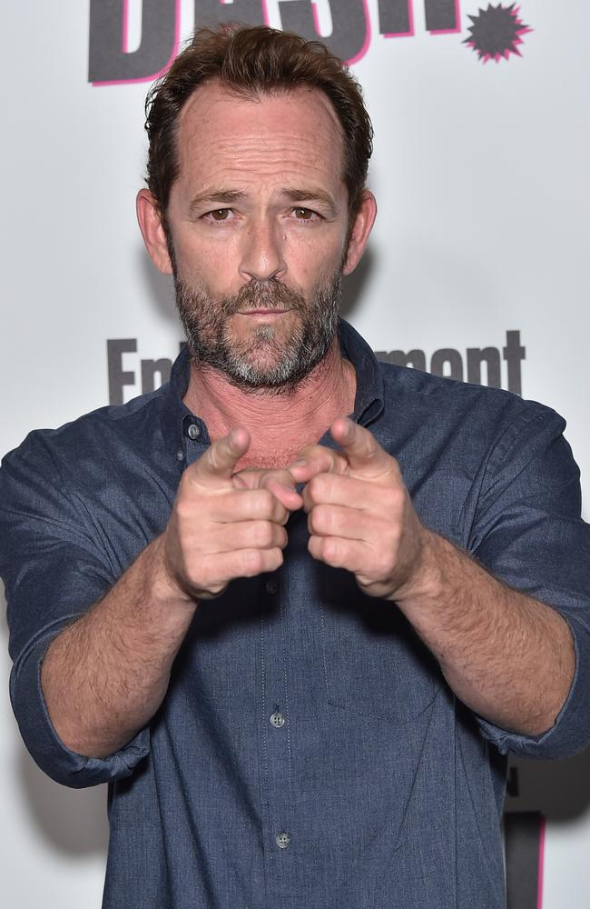 Former 90210 star Luke Perry has had a serious health scare. Picture: Getty Images