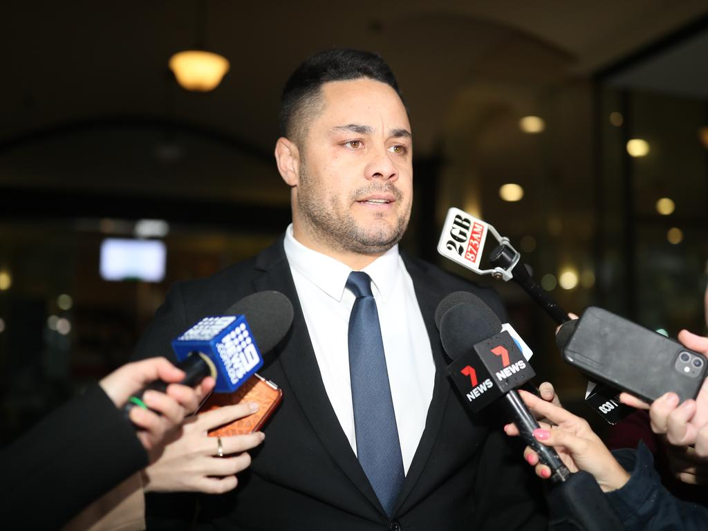 Jarryd Hayne said he would be appealing after being found guilty of sexual assault. Picture: NCA NewsWire / Christian Gilles.