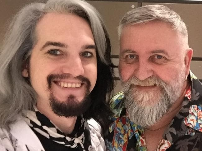 Together for five years: Partners Matthew Parsons (left) and Russ Vickery have collaborated on a cabaret show My Other Closet.