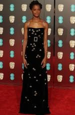 Guyanese actress Letitia Wright poses on the red carpet upon arrival at the BAFTA British Academy Film Awards at the Royal Albert Hall in London on February 18, 2018. Picture: AFP PHOTO / Daniel LEAL-OLIVAS