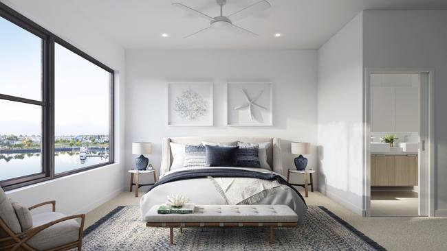 An artist's impression of the Cova Boathouse bedroom.