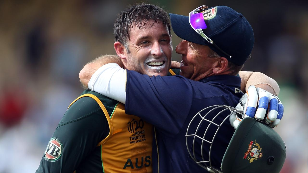 Michael Hussey saved Australia in the 2010 World Cup semi-final.