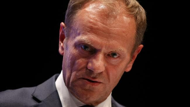 Donald Tusk says the Irish border problem can be solved. Picture: Sean Gallup/Getty Images