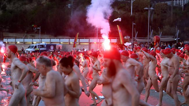 Dark Mofo also features a nude swim. Picture: SAM ROSEWARNE.