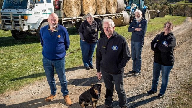 Graham Cockerell, centre, is joined by fellow volunteers Paul Greenfield, Elaine Spencer, Terry Swalwell and Claire Johnston. Picture: Jake Nowakowski