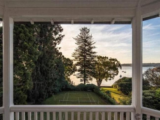 A secret hideaway estate in Rose Bay looks set to topple Australia's most expensive house record of $71m Elaine (above).