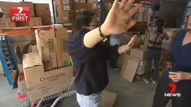 Seven News: Baby formula warehouse uncovered