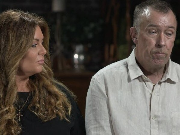 He became emotional when recounting the sexual abuse he received from Frank Houston. Picture: Channel 9