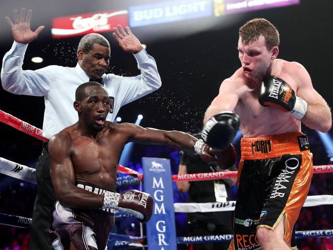 Jeff Horn was outclassed by Terence Crawford. Picture: Peter Wallis