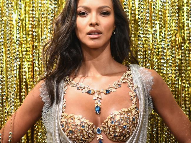 Lais Ribeiro revealed the $2 Million 2017 Champagne Nights Fantasy Bra in 2017. Picture: Getty