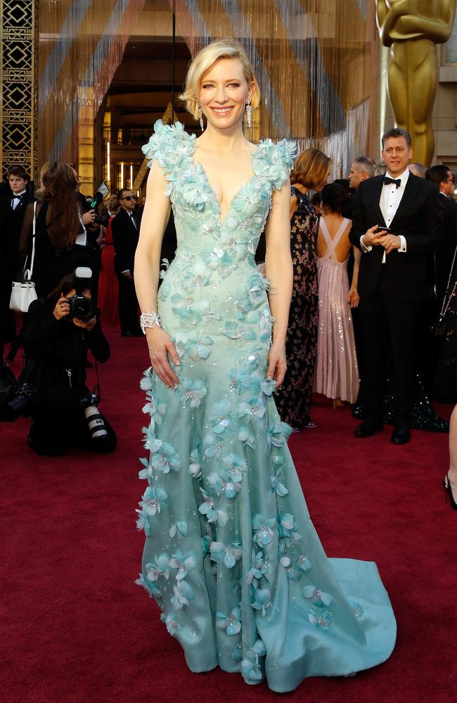 Cate Blanchett in Giorgio Armani, dripping in Tiffany & Co jewels. Just stop it. Picture: Jeff Vespa/WireImage